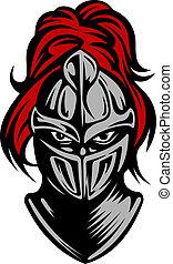 escuro, cavaleiro, medieval