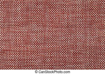 escuro, checkered, tecido, macro., padrão, têxtil, experiência vermelha, estrutura, closeup.