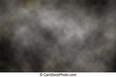 escuro, fumaça, fundo