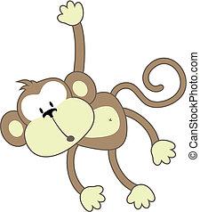 escuro, macaco