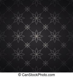 escuro, pattern., floral