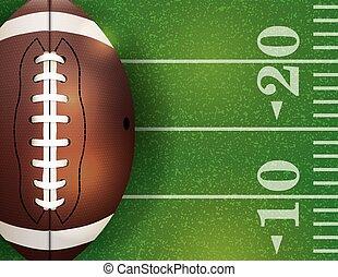 esfera football, ilustração, americano, campo