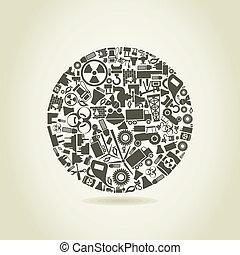 esfera, indústria