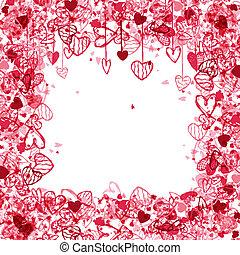 espaço, texto, quadro, valentine, desenho, seu