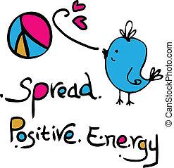 espalhar, positivo, energia