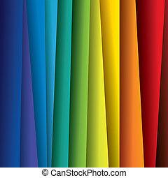 espectro, ou, cor, coloridos, folhas, graphic., abstratos, papel, (backdrop), arco íris, fundo, ilustração, -, vetorial, contém, este
