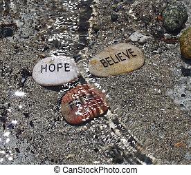 esperança, acreditar, fé, ondas