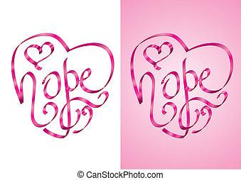 esperança, -, consciência, câncer, peito