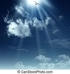 espiritual, heaven., abstratos, fundos, desenho, maneira, seu