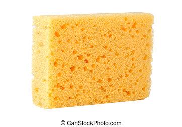 esponja, amarela