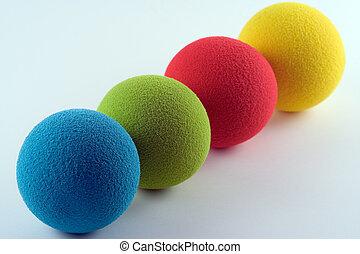 esponja, bolas