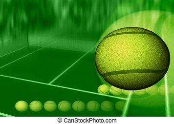 esportes, bola tênis, partida