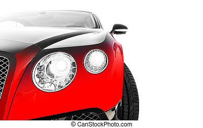 esportes, carro vermelho