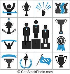 esportes, distinção, ícones