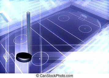 esportes, jogo, vara hockey