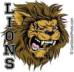 esportes, leões, mascote