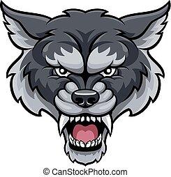 esportes, lobo, mascote