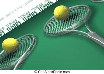 esportes, racquet, tênis