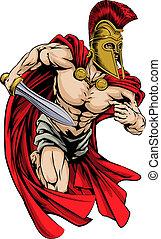 esportes, spartan, mascote