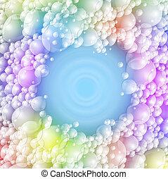 espuma, coloridos