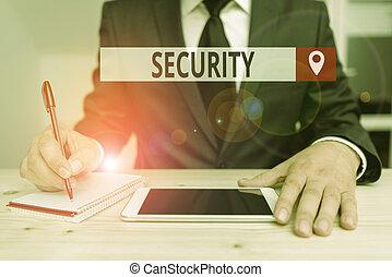 estado, nota, cofre, mostrando, danger., escrita, security., livre, estável, negócio, sentimento, ou, showcasing, foto, medo