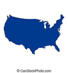 estados, mapa, unidas, américa