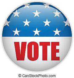 estados, voto, unidas, eleição, button.