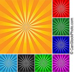 estilo, abstratos, diferente, experiência., cores, vetorial, retro, gradients.