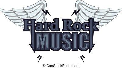 estilo, difícil, música, rocha, ícone, caricatura