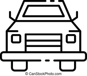 estilo, esboço, car, cima, pico, ícone