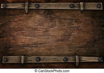 estilo, espaço, ocidental, livre, madeira