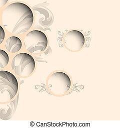 estilo, teia, bolhas, desenho, vindima