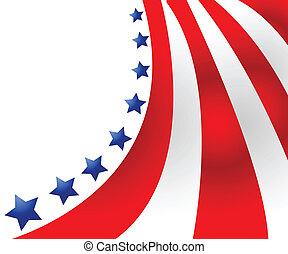 estilo, vetorial, bandeira eua