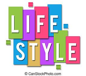 estilo vida, colorido, listras