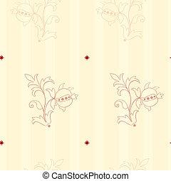 estilo, vitoriano, papel parede, seamless