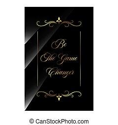 estilos, citação, elegante, vetorial, inspirar, luxo, positivo, ilustração, beleza, changer., ser, estoque, quotes., motivational, jogo, tipografia