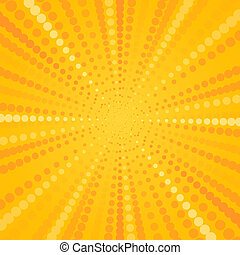 estrela, amarela, halftone