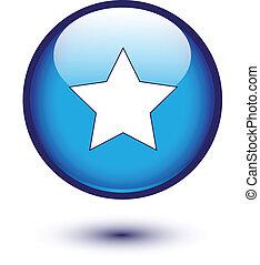 estrela azul, ícone