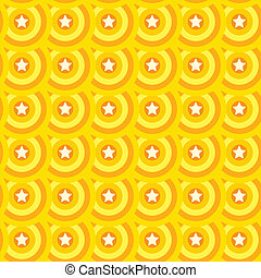 estrela, seamless, amarela, experiência., laranja, texture.