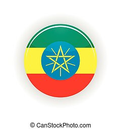 etiópia, círculo, ícone
