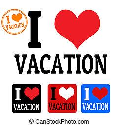 etiquetas, amor, férias, sinal