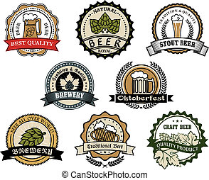 etiquetas, cervejaria, cerveja