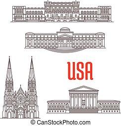 eua, marcos, arquitetura