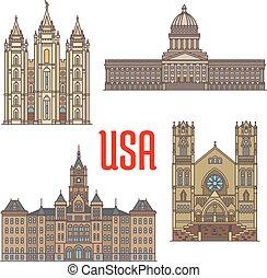 eua, viagem, utah, arquitetura, marcos, ícone