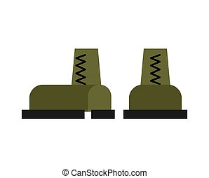 exército, isolated., botas, acessório, shoes., militar, soldados