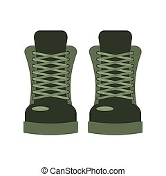exército, shoes., botina, footwear., soldado, militar, especiais