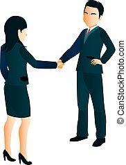 executiva, agitação, homens negócios, mãos