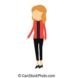 executiva, avatar, caricatura