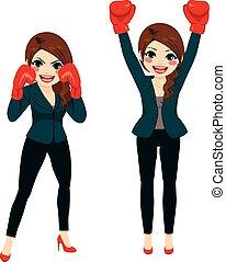 executiva, boxe, lutador