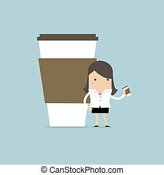 executiva, café, tem, break.